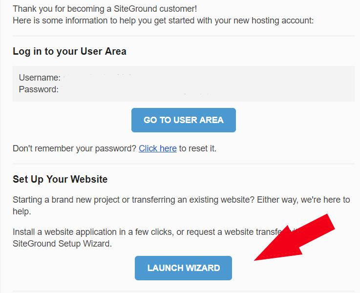 siteground email setup