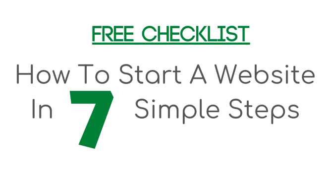 how to start a website checklist